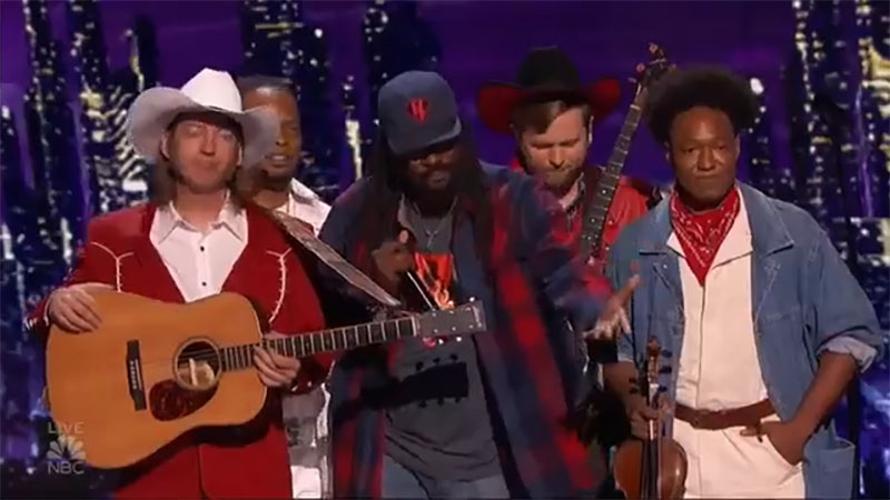 """Gangstagrass sings """"All For One"""" on America's Got Talent 2021 AGT Quarterfinals"""