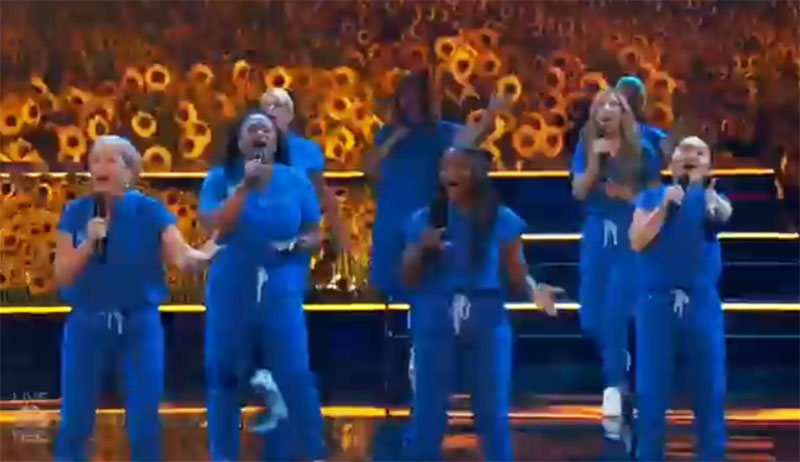 """Northwell Nurse Choir sings """"You Will Be Found"""" on America's Got Talent 2021 AGT Quarterfinals"""