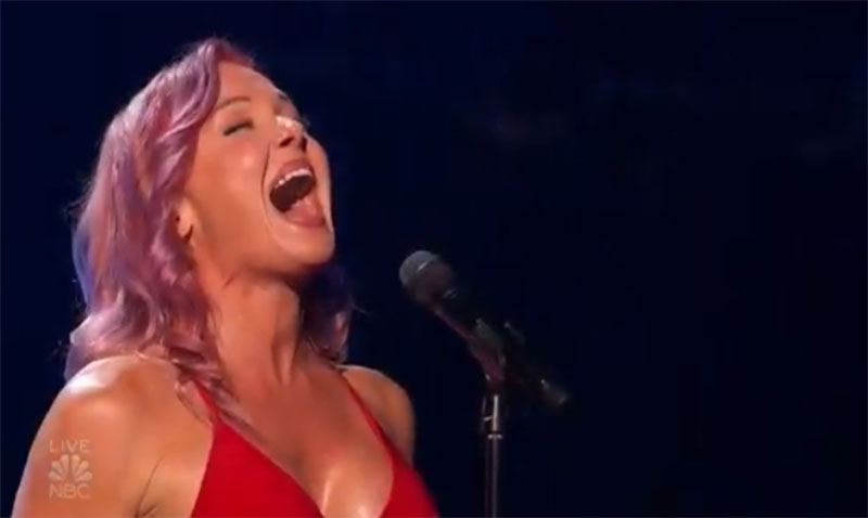 """Storm Large sings """"Take on Me"""" on America's Got Talent 2021 AGT Quarterfinals"""