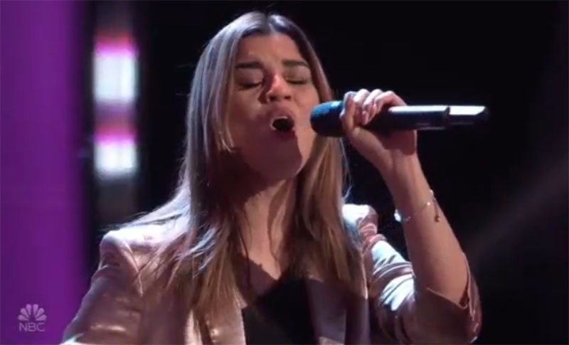 """Carolina Alonso sings """"El Triste"""" on The Voice Blind Auditions 2021"""
