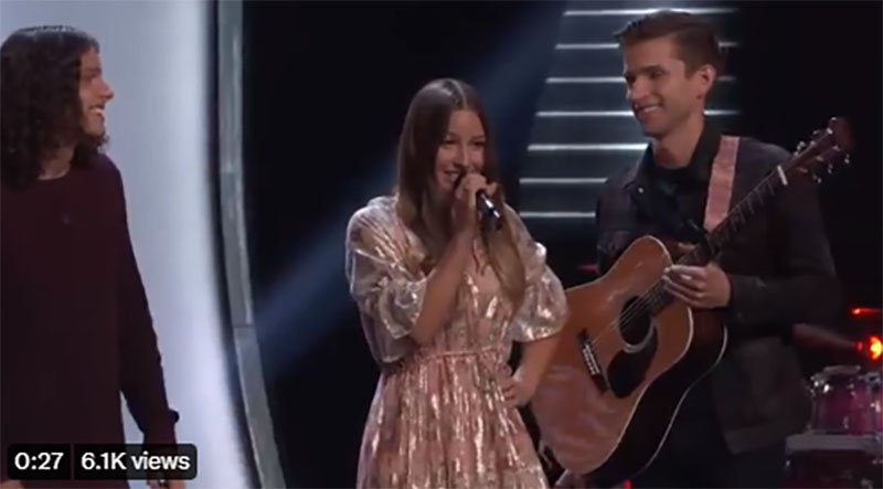 """Girl Named Tom sings """"Helplessly Hoping"""" on The Voice Blind Auditions 2021"""