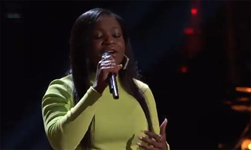 "Jonara Brown sings ""Angel of Mine"" on The Voice Blind Auditions 2021"