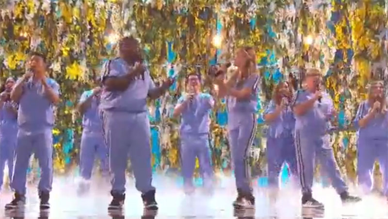 """Northwell Health Nurse Choir sings """"Don't Give Up On Me"""" on America's Got Talent 2021 AGT Semifinals"""