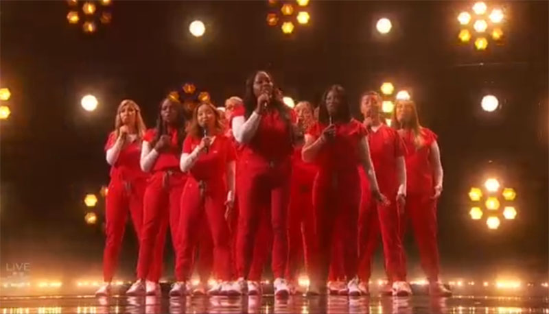"""Northwell Nurse Health Choir sings """"Stand By You"""" America's Got Talent 2021 AGT Finals"""