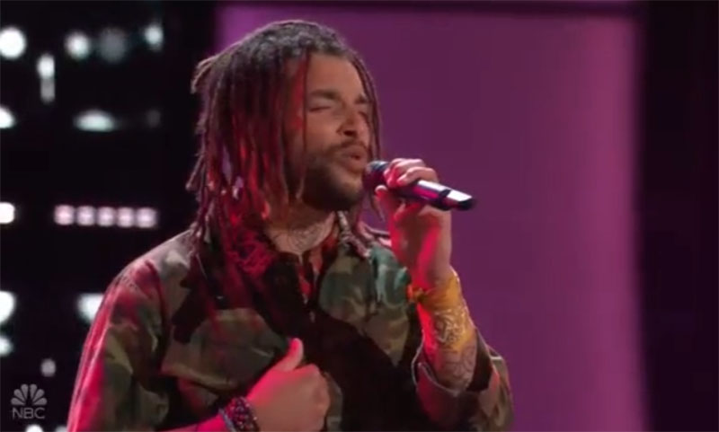 """Samuel Harness sings """"Here Without You"""" on The Voice Blind Auditions 2021"""