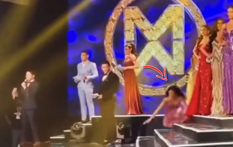VIDEO: Tracy Maureen Perez Falls Onstage Twice during 6-Hour Miss World Philippines 2021 Event
